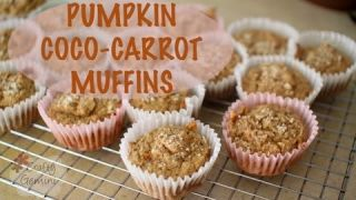 Pumpkin Coco-Carrot Muffins- Healthy Recipe